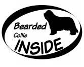 Warnwesten & SicherheitswestenWarnwesten mit Hunderasse MotivenInside Aufkleber: Bearded Collie