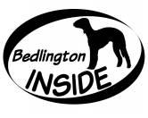 Tierische-FigurenVersilberte Hunde-FigurenInside Aufkleber: Bedlington Terrier
