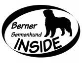 Leben & WohnenGarderoben & SchlüsselboardsInside Aufkleber: Berner Sennenhund 1