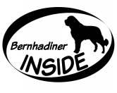Tiermotiv Tassen3D Tassen HundeInside Aufkleber: Bernhardiner 1