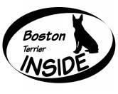 Leben & WohnenHundemotiv HandtücherInside Aufkleber: Boston Terrier 1