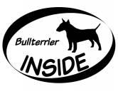 AusstellungszubehörHundeausstellungs-ClipsInside Aufkleber: Bullterrier 1