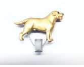 Taschen & RucksäckeCanvas Tasche HunderasseHundeausstellungs-Startnummern-Clip: Labrador Yellow