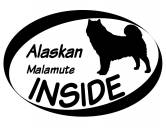 Bekleidung & AccessoiresHundesportwesten mit Hundemotiven inkl. Rückentasche MIL-TEC ®Inside Aufkleber: Alaskan Malamute