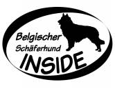 Bekleidung & AccessoiresHundesportwesten mit Hundemotiven inkl. Rückentasche MIL-TEC ®Inside Aufkleber: Belgischer Schäferhund - Tervueren