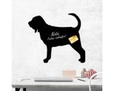 Taschen & RucksäckeCanvas Tasche HunderasseSelbstklebende Kreidetafel: Bloodhound 1