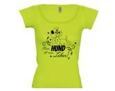 DuftbäumeHundemotiv DuftbäumeDamen T-Shirt: Mein Hund ist mein Leben- LIMITIERTE EDITION