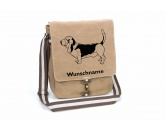 Bekleidung & AccessoiresHundesportwesten mit Hundemotiven inkl. Rückentasche MIL-TEC ®Basset 2 Canvas Schultertasche Tasche mit Hundemotiv und Namen