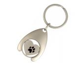 MarkenBluebug Schlüsselanhänger mit Einkaufswagen-Chip: Herz mit Pfote