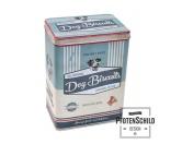 Wasser- & Futternäpfe für Hunde & KatzenPfotenschild Vintage Blechdose: Hunde Leckerlis 3 Liter