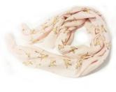 Schals für TierfreundeBaumwoll Fransen-Schal: Labrador -ROSA-