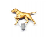 AusstellungszubehörHunderassen Ringclips vergoldetHundeausstellungs-Startnummern-Clip: Vizsla