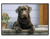 Tierische FußmattenDesigner Fußmatte: Labrador chocolate