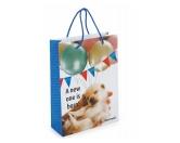 Geschenk-VerpackungenGeschenktasche Papiertüte: Hund Welpe Newborn 24 x 30 cm