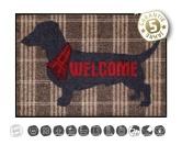 Tiermotiv TassenTassen HunderassenDesigner Fußmatte: Welcome Dog 50 x 75cm
