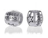 Schenken & ZubehörEinzigartige GeschenkideenBead-Schmuck-Anhänger-Silber: Hund Best Friends