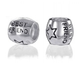 Schmuck & AccessoiresSchmuck für KatzenfansBead-Schmuck-Anhänger-Silber: Hund Best Friends