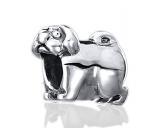 Pfötchen SchmuckBead-Schmuck-Anhänger-Silber: Hund Benny