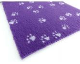 Dry-Bed - mehrfarbig - antirutschDry-Bed: Dark-Purple LILA mit weissen Pfötchen 100x150cm
