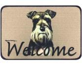Tierische FußmattenStandard Fussmatte: Hund Schnauzer