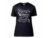Für MenschenNostalgische GeschenkartikelHundespruch T-Shirt: Hundehaare sind Glitzer auf meiner Seele