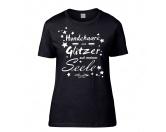 Taschen & RucksäckeCanvas Messenger -Hundesprüche-Hundespruch T-Shirt: Hundehaare sind Glitzer auf meiner Seele