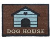 Tierische FußmattenPREMIUM Hunde Fußmatte: Dog House - 50 x 75 cm braun