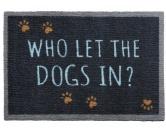 Tierische FußmattenPREMIUM Hunde Fußmatte: Dogs In - 50 x 75 cm dunkelgrau-blau