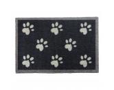 Tierische FußmattenPREMIUM Hunde Fußmatte: Pfoten - 50 x 75 cm dunkelgrau
