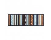 Tierische FußmattenPREMIUM Hunde Fußmatte Läufer Küchenmatte: Pfote Streifen - 50 x 150 cm grau-blau