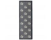 Tierische FußmattenPREMIUM Hunde Fußmatte Läufer Küchenmatte: Pfoten - 50 x 150 cm grau