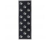 Tierische FußmattenPREMIUM Hunde Fußmatte Läufer Küchenmatte: Pfoten - 50 x 150 cm dunkelgrau