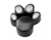 MarkenEnergy & Life: Hunde Magnet-Schmuck-Anhänger Pfote -schwarz-