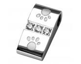MarkenEnergy & Life: Hunde Pfote Magnet-Schmuck-Anhänger -Zirkonia-