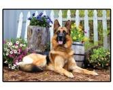 Tierische FußmattenFoto Design Hunde Fußmatte: Schäferhund - German Shepherd