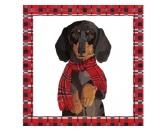 WeihnachtenPapier-Servietten: Hund - Arthur Dackel 20 Stck 33 x 33 cm