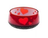 Wasser- & Futternäpfe für Hunde & KatzenEHASO Hunde Melamin Wasser-/Futternapf: Rot mit Herzen 1800ml