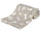 Trixie Hundedecke Kenny Pfote Knochen 150 x 100 cm