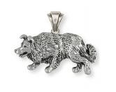 Schmuck - Anhänger: Border Collie - 925er Sterling Silber-