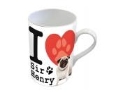 T-ShirtsHunderassen T-ShirtsHundespruch Tasse: I Love Sir Henry