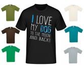 WohnenWärmflaschen - WärmekissenHerren T-Shirt Hundespruch: I Love my Dog