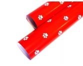 WeihnachtenGeschenkpapier für Hundefreunde: Pfote -Rot Weiss- LIMITIERTE EDITION