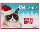 WeihnachtenKatzen Design Fußmatte: Grumpy Cat - Weihnachen