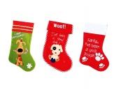 WeihnachtenWeihnachts-Stiefel mit Hundemotiv -sortiert-