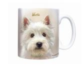Tierische-FigurenVersilberte Hunde-FigurenHunde Motiv Tasse: West Highland Terrier -Sepia-