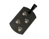 Für TiereLeckerlies & HundekekseEnergy & Life: Hunde Pfote Magnet-Schmuck-Anhänger schwarz