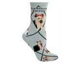 RestpostenHunde Rasse Socken: Yorkie - Yorkshire Terrier -grau-