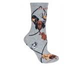 Bekleidung & AccessoiresHausschuhe & PantoffelnHunde Rasse Socken: Dackel Dachshund 3 -grau-