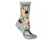 Socken mit TiermotivSocken mit HundemotivHunde Rasse Socken: Deutsche Dogge Great Dane -grau-