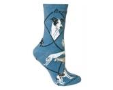 Taschen & RucksäckeCanvas Tasche HunderasseHunde Rasse Socken: Greyhound -blau-